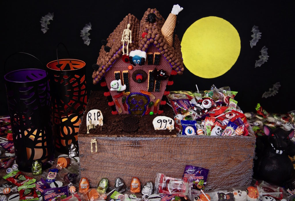 What happens when you go to the 99 and stock up on Halloween Candy? You make a cool Haunted House Halloween Candy Box!