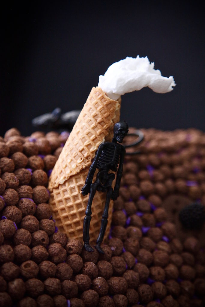 A chimney made of an ice cream cone from the 99