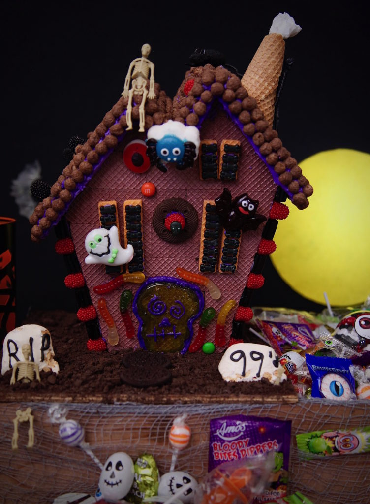 Haunted House Graveyard Candy Box For Halloween. Everything bought from the 99.