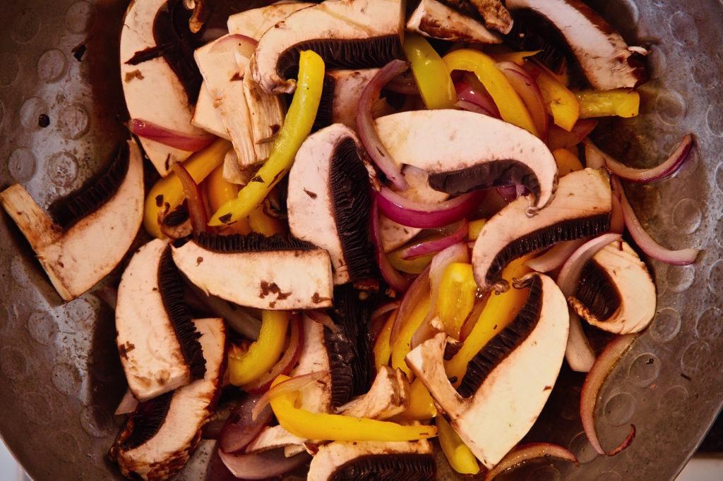 Mushroom Saltado wok