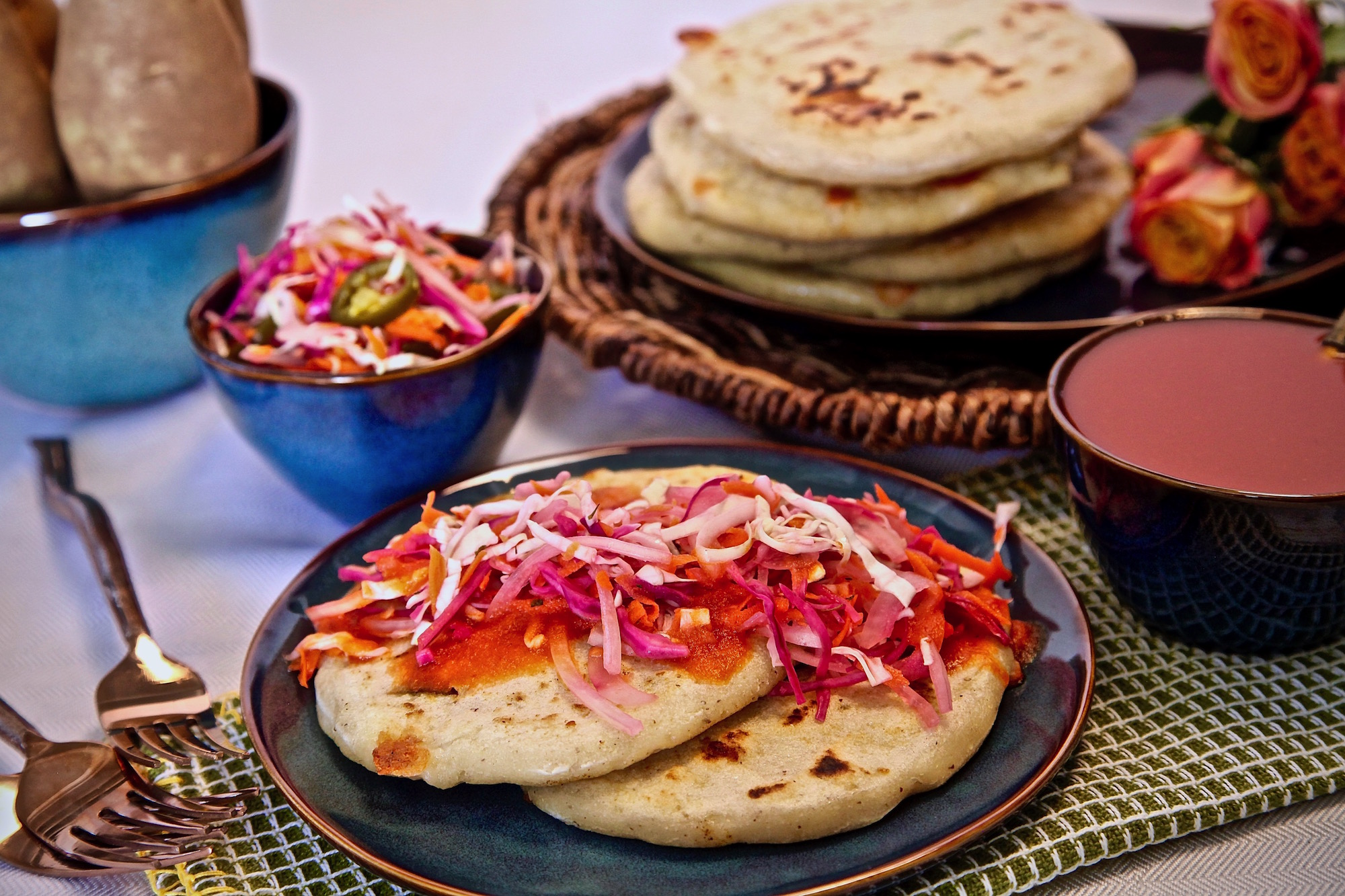 Cheesy Jalapeno Idaho® Potato Pupusas