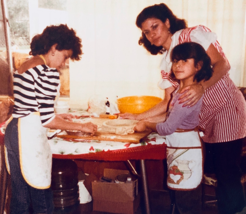 Nicole Presley in her youth making pies