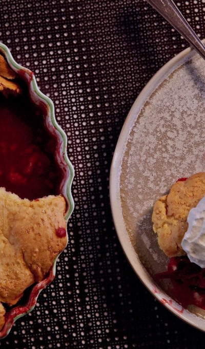 Upside-down Strawberry Shortcake Cobbler