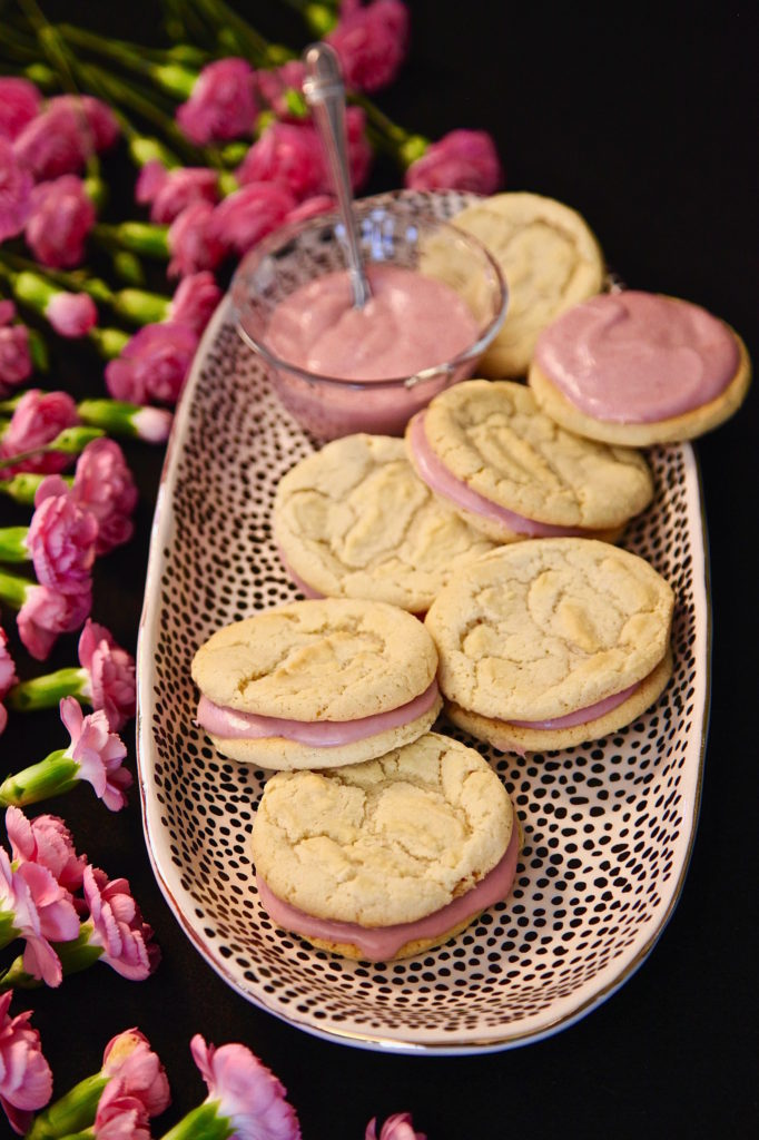 White Chocolate Sandwich cookies are great for Easter
