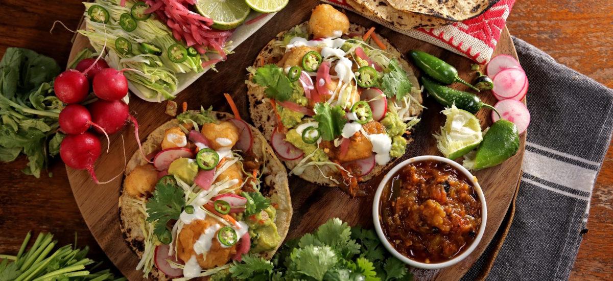 Crispy Battered Cauliflower Tacos