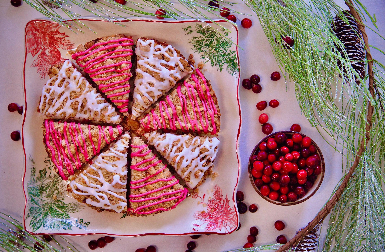 Cranberry Coffeecake with Hibiscus Glaze