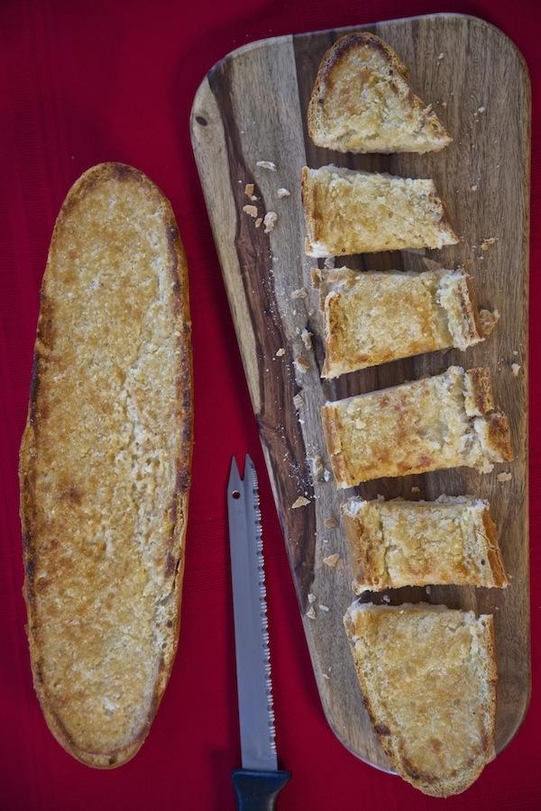 Cheesy garlic bread made with Mama Francesca Parmesan Cheese