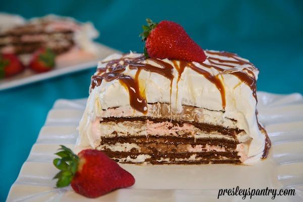 Cajeta Neapolitan Ice Cream Sandwich Cake For The Premios Billboard 2014 Awards