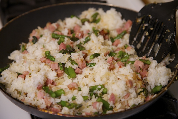 added rice for fried rice