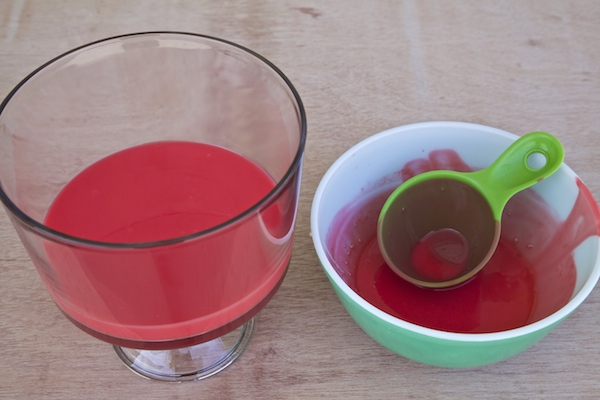 jello made for bottom layer of trifle bowl