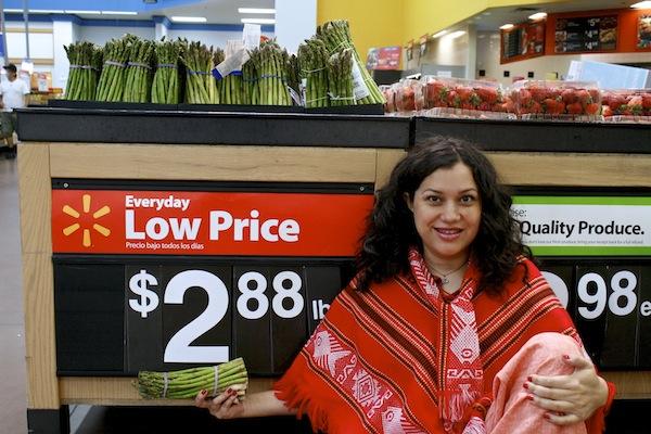 Low priced asparagus at Walmart