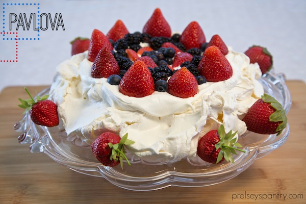 perfect pavlova topped with berries