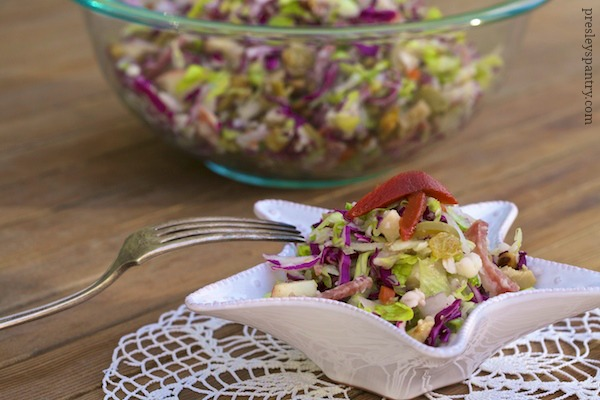 Salami chopped salad #WMTMoms
