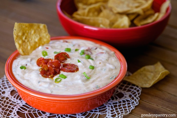 Spicy Habanero Blistered Tomato Dip #TabascoTasteMakers
