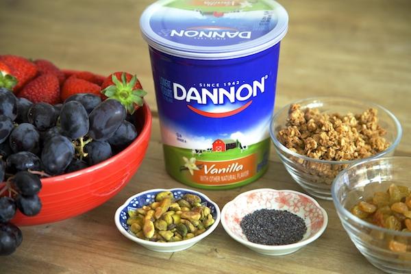 ingredients for breakfast parfaits