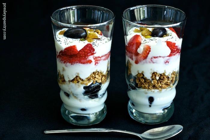 Yogurt parfait for breakfast #WMTMoms