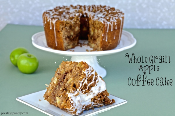 Whole grain apple coffee cake #WMTMoms
