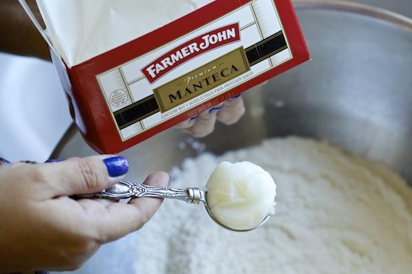 Lard for flour tortillas