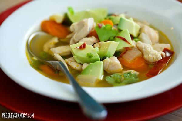Get Well Soon Mexican Chicken Soup #WMTMoms