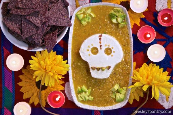 For Dia De Los Muertos Cacique Calavera Queso Salsa Dip