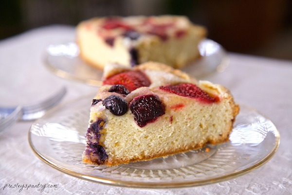 This berry laced cake is the closest thing you will get to pan dulce in a cake form. So light and moist, and all the ingredients can be bought at Walmart.