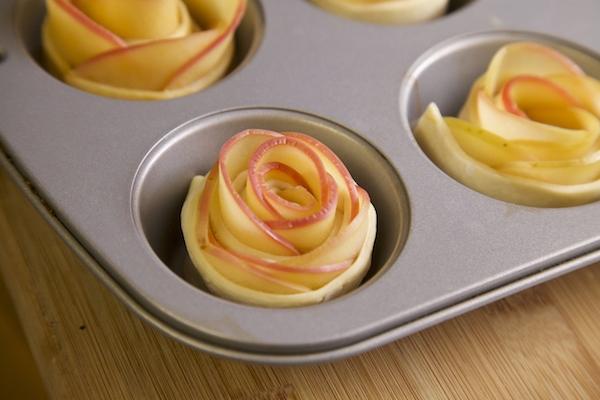 unbaked cajeta apple rosette