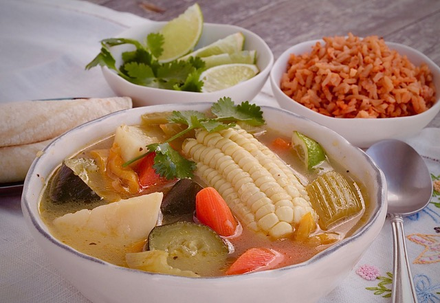 Caldo de vegetales which is Mexican Style Vegetable Soup