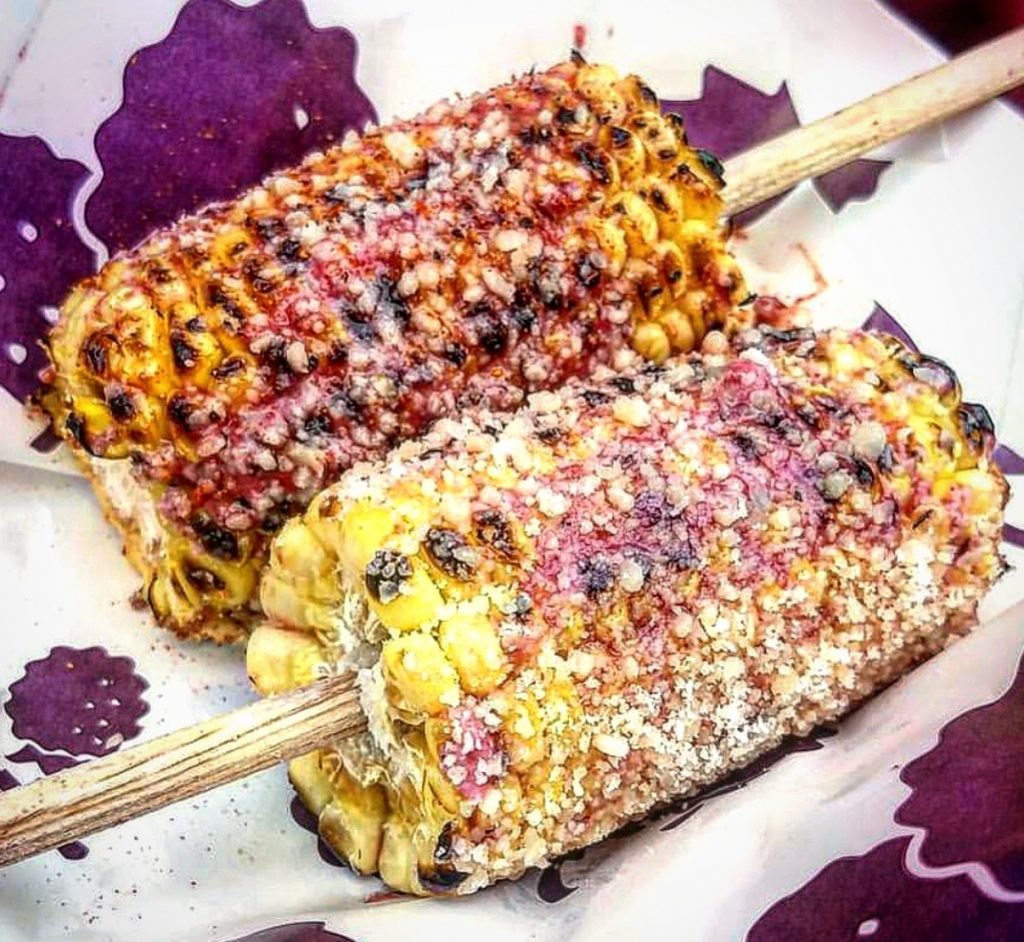 Boysenberry elote