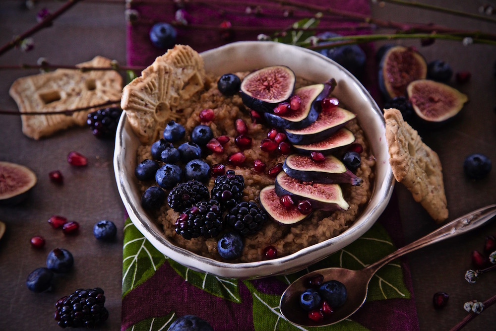 Berry Fig Steel Cut Oatmeal