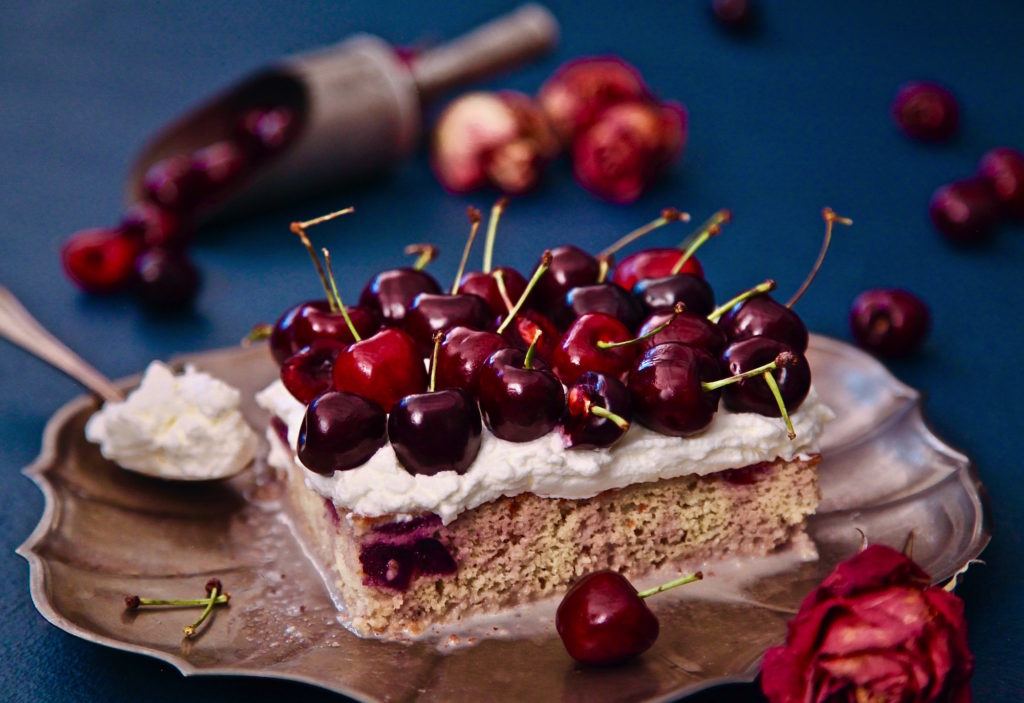 My Cherry Tres Leches Cake is the best I've ever tasted.