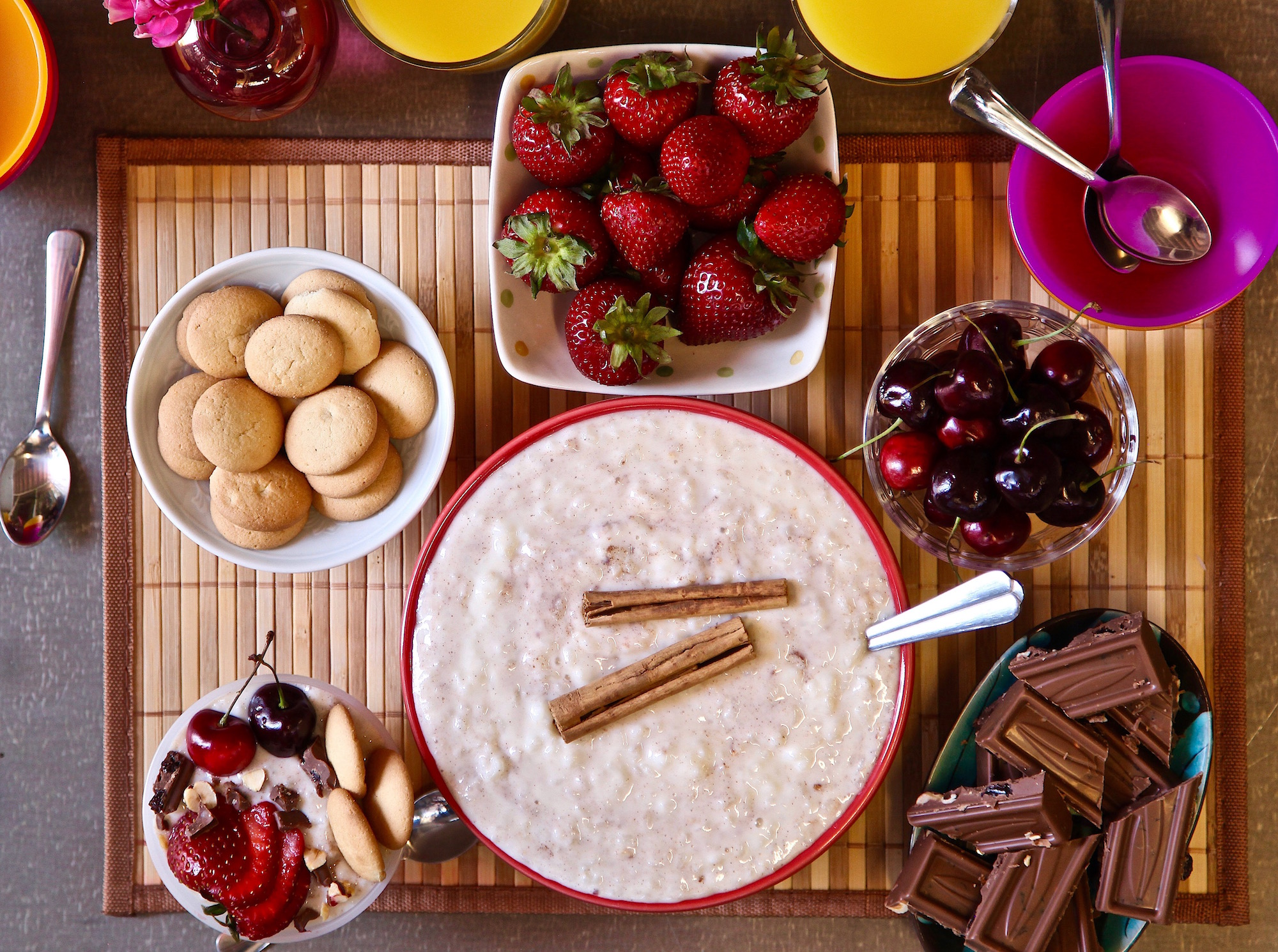 Arroz con leche bar all ingredients bought at ALDI