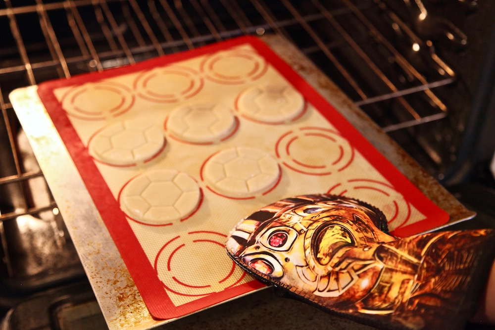 cookies going into oven