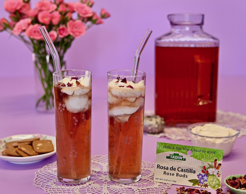 Tadin Rose Buds Make Delicious Cheese Tea. Enjoy with a cookie for a tea that taste like cheesecake!