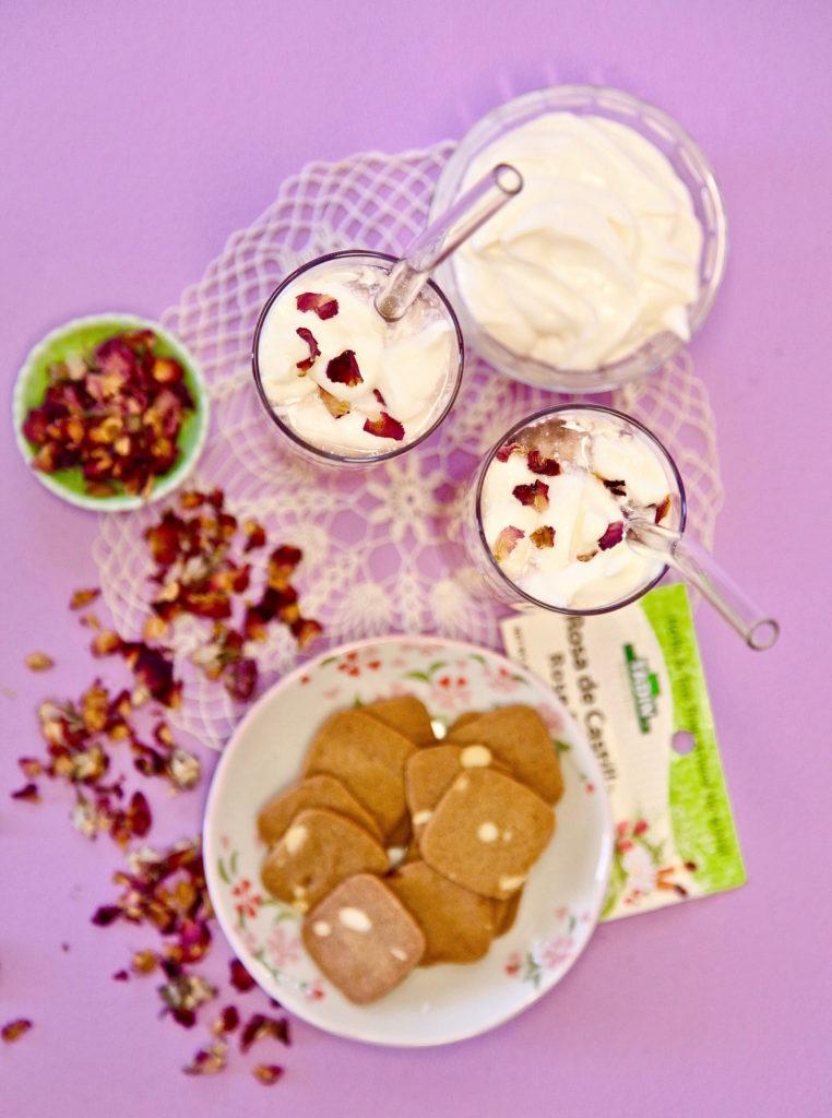 Cheese tea made with Tadin's Rose Bud tea