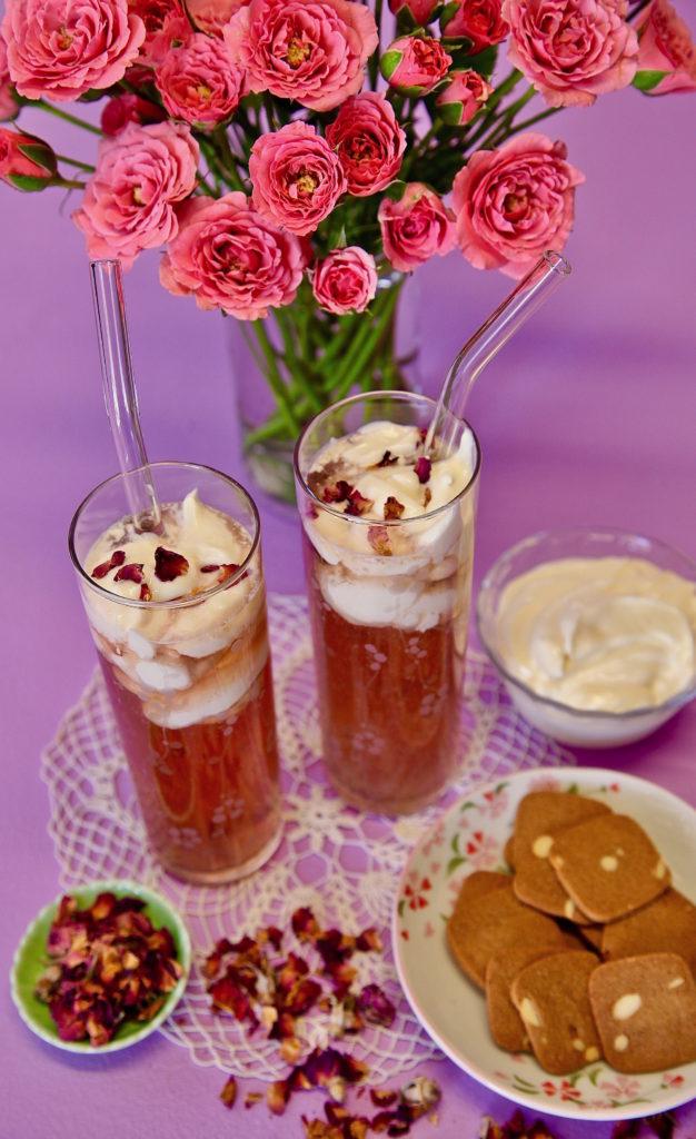 Rose Cheese Tea made with Tadin's Rose Bud tea.