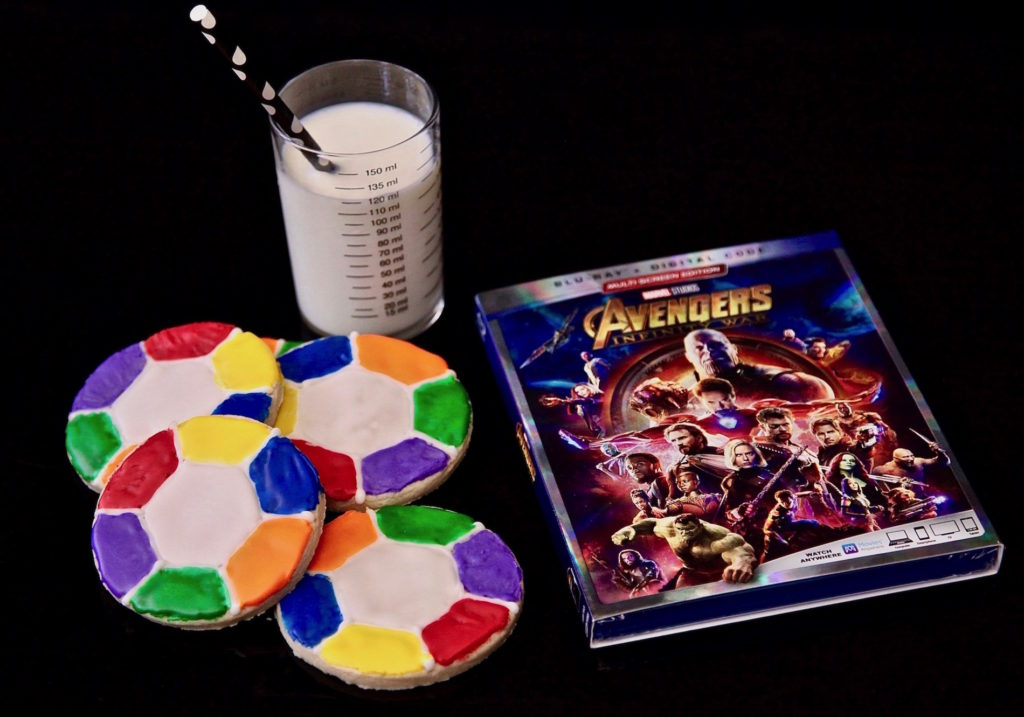 Infinity Stone Sugar Cookie Rings with Avengers: Infinity War Blu-Ray