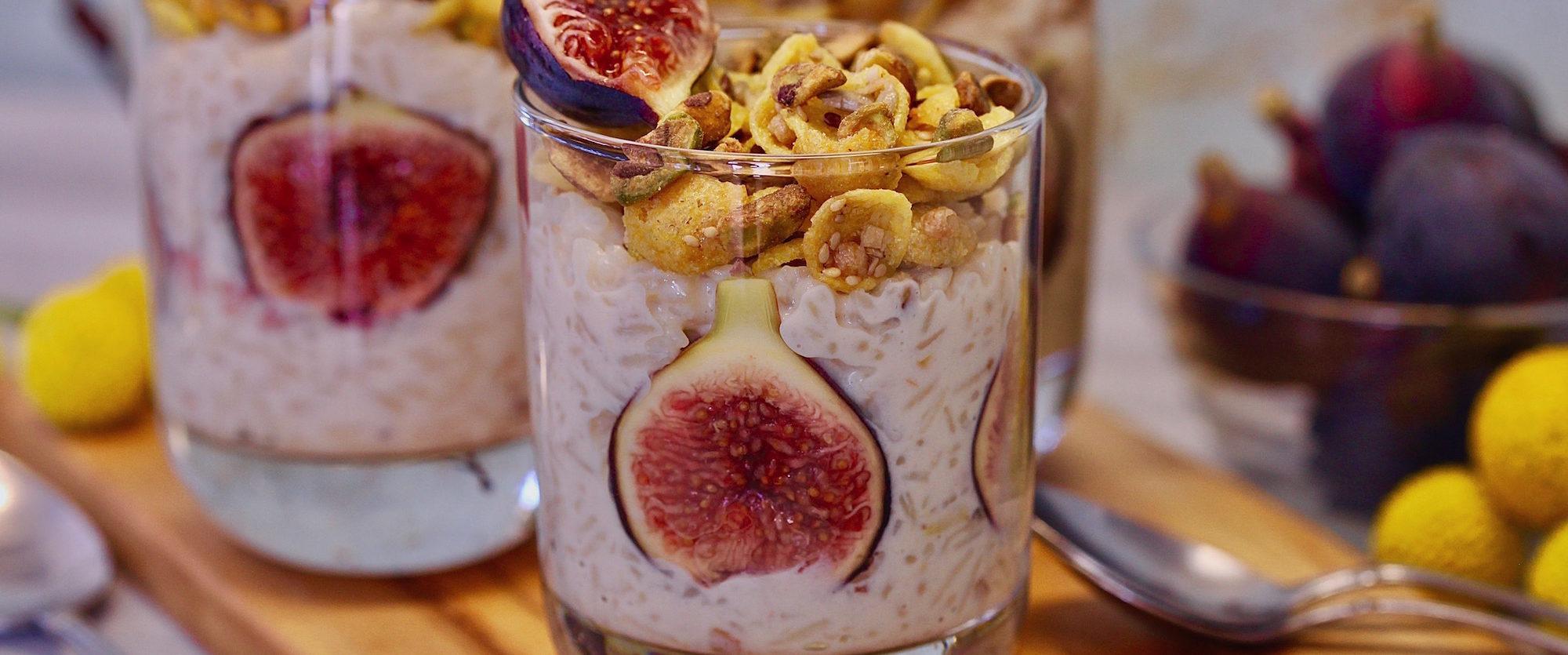 Pistachio Fig Arroz Con Leche: Gluten Free Dessert