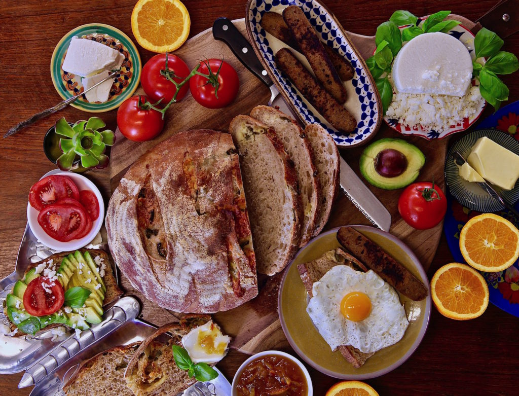 Fall Breakfast Toast ideas for a vegetarian toast bar