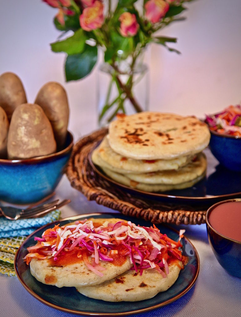 Cheesy Jalapeno Potato Pupusas made with Idaho Potatoes!