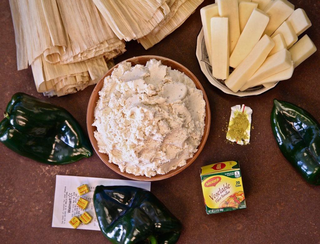 Ingredients for tamales