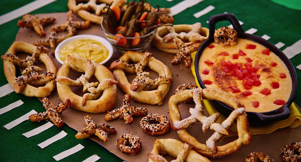 Mexican Beer Oaxaca Cheese Dip And Football Pretzels