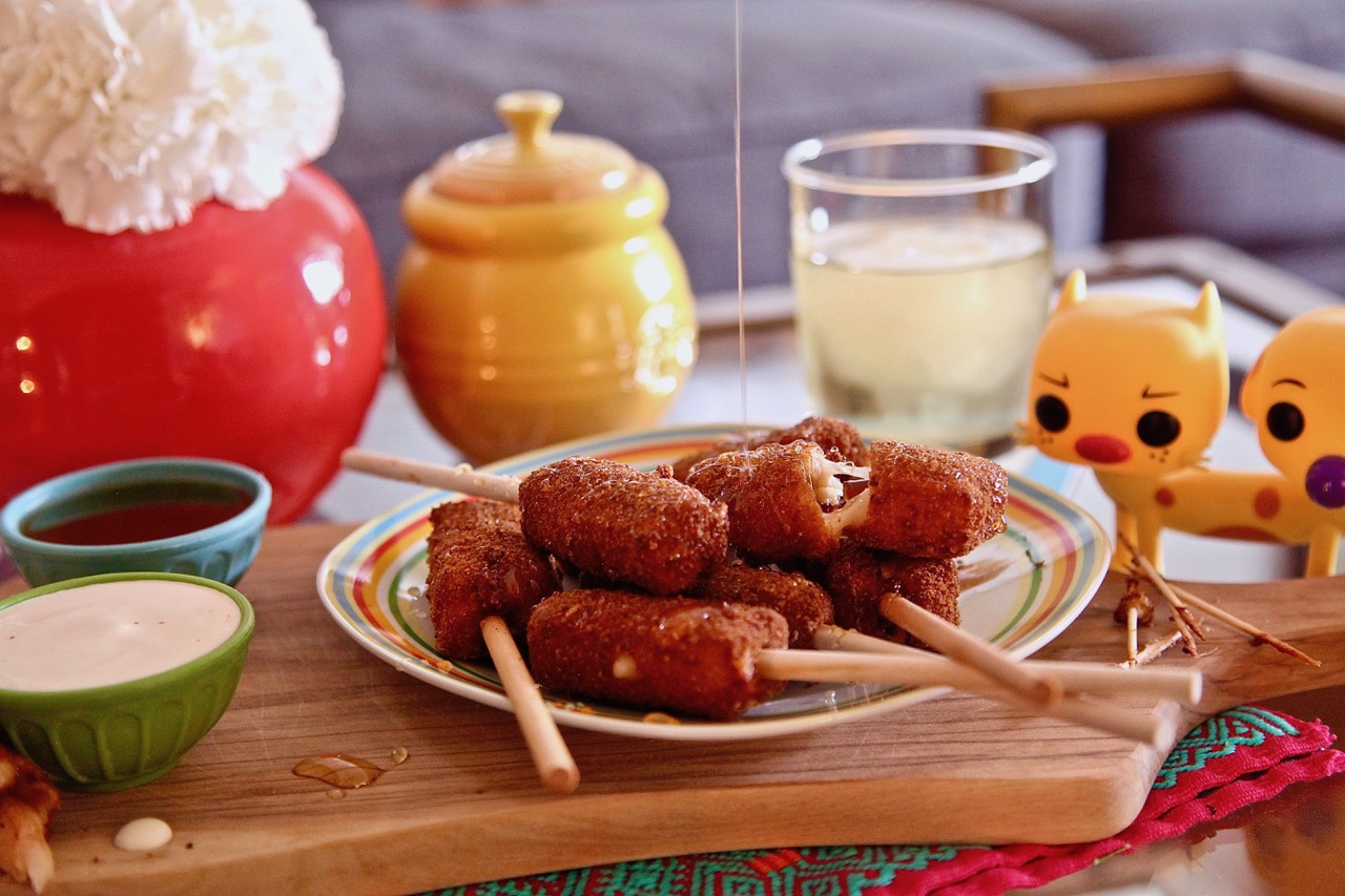 Cheesy Manchego Quince On A Stick