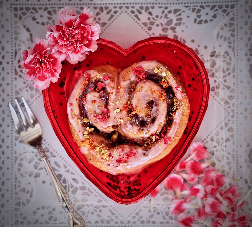 Cinnamon Roll Hearts of Love