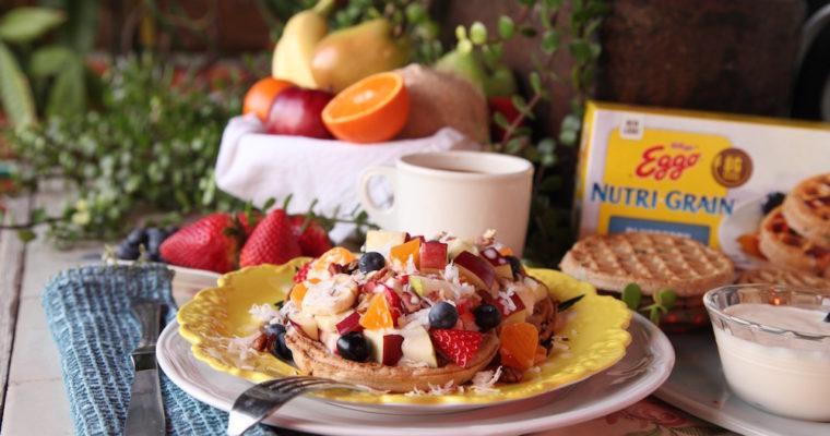 Breakfast Waffle Fruit Salad