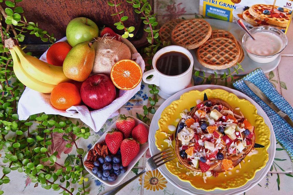 Breakfast Waffle Fruit Salad with Eggo