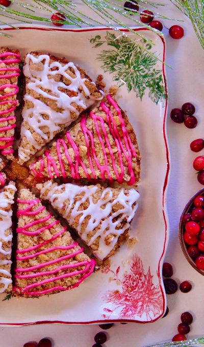 Cranberry Coffeecake with Hibiscus Glaze