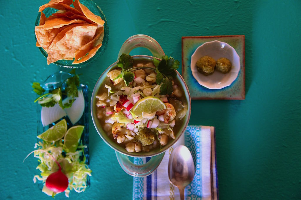 Green Vegan Cauliflower Pozole