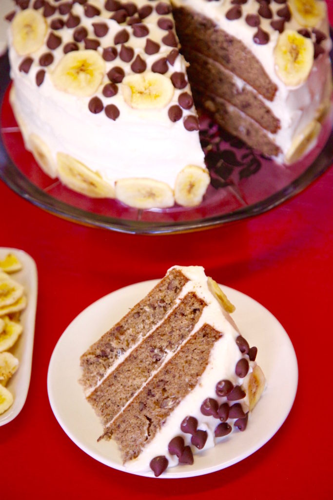 3 Layer Banana Pecan Cake
