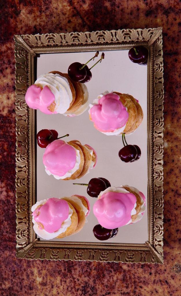 Cherry-Cream-Puffs