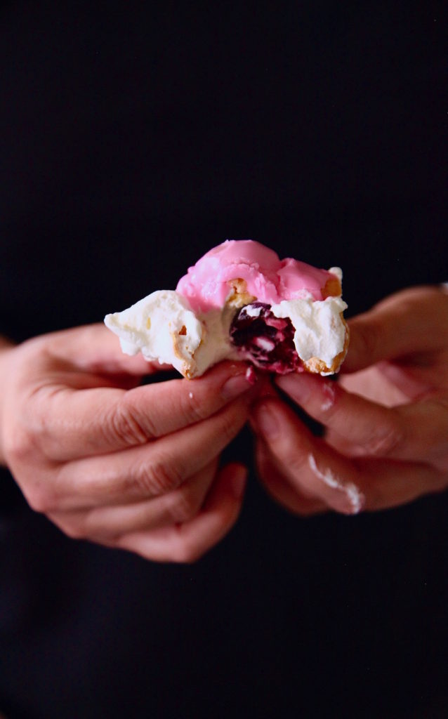 Cherry-Cream-Puffs-Recipe-cherry-in-the-middle